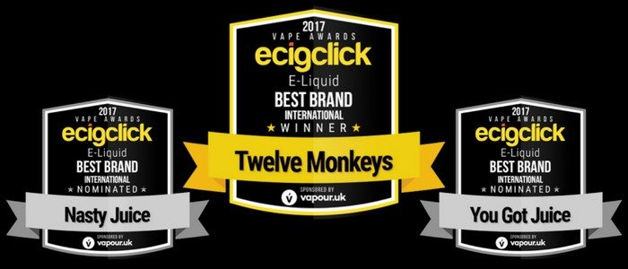 Ecigclick Awards Best Eliquid Brand International 2017