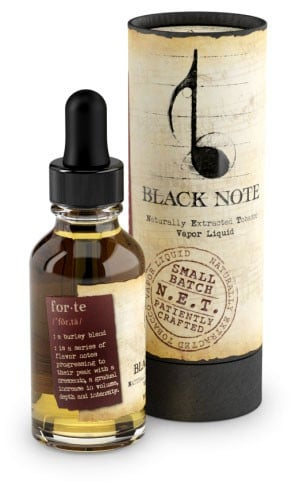 best tobacco flavoured e-juice - Black note Forte