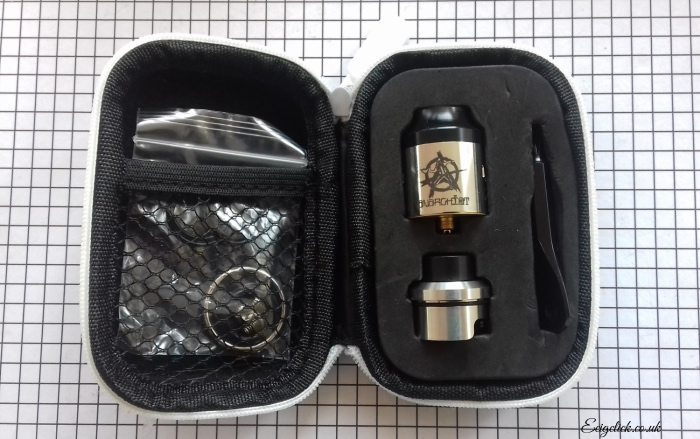 Kit contents of the Riot RDA by Anarchist and Digiflavor