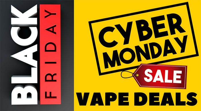 Offres de Black Friday Cyber ​​Monday sur la vape