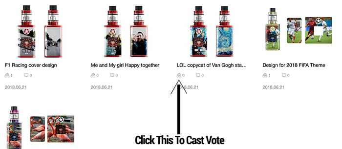 Vaptio contest - how to vote