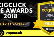 2018 Ecigclick Vape awards results