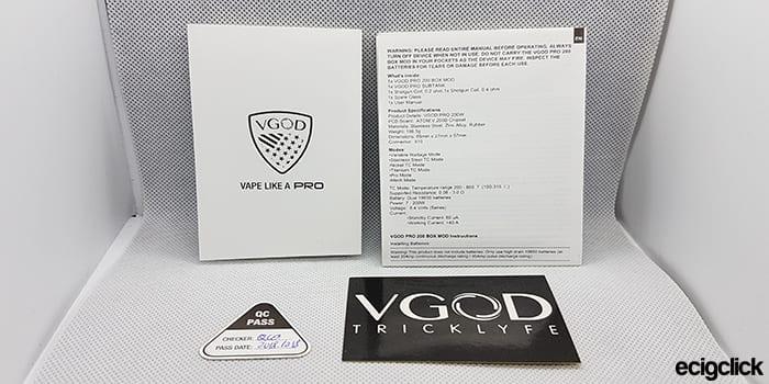 VGOD-Pro-200-Manuals