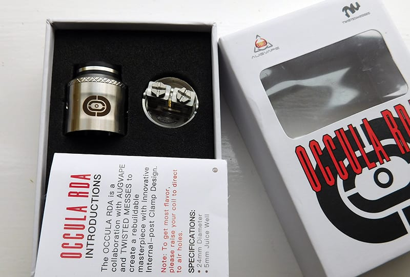 occula rda contents