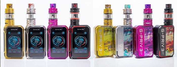 Smok G Priv 3 Colours front and back