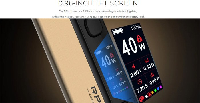 Smok rpm lite screen