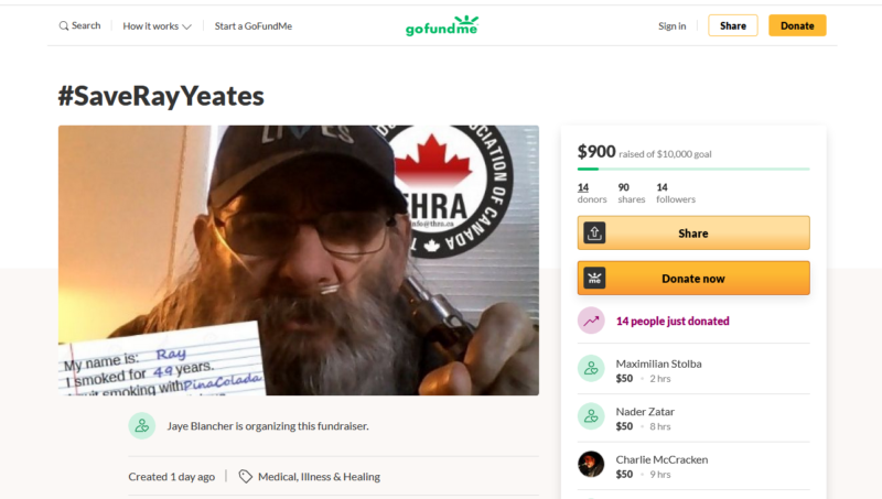 save ray yeates go fund me campaign