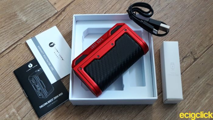 Lost Vape Thelema Quest 200W Mod unboxing